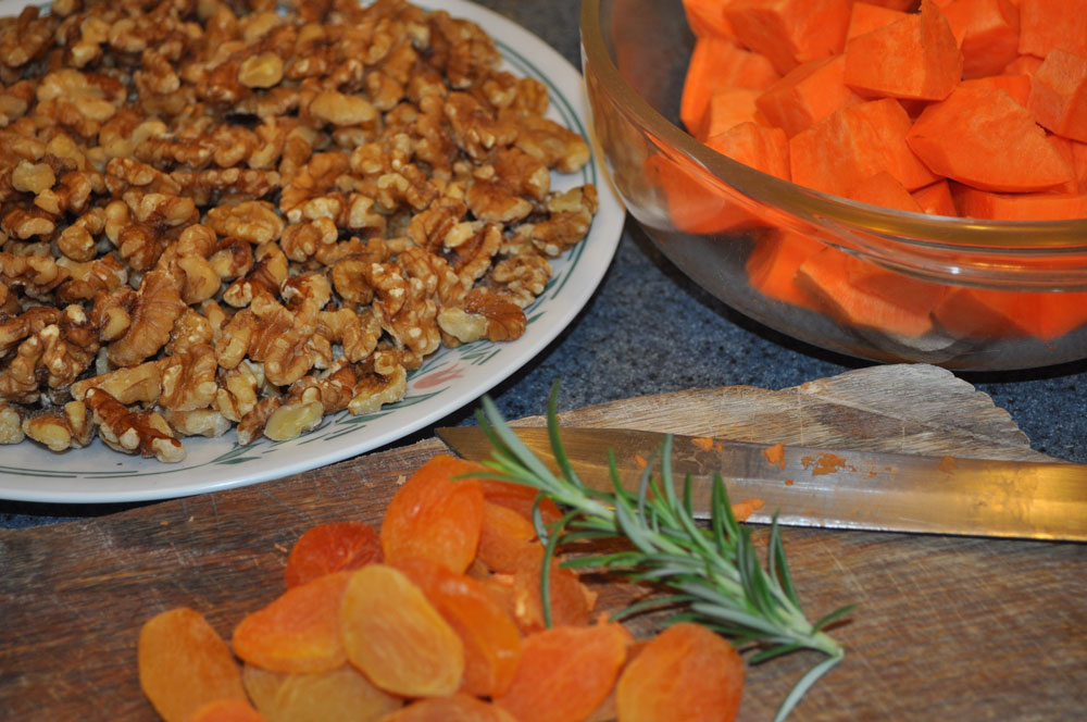 Ingredients for Mama's Sweet Potato and Apricot Compote